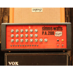 Vintage 1970s Simms Watts PA200 Super Valve Amplifier