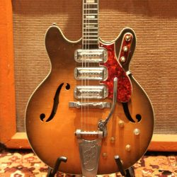 Vintage 1964 Harmony H75 USA Original Bigsby Electric Guitar