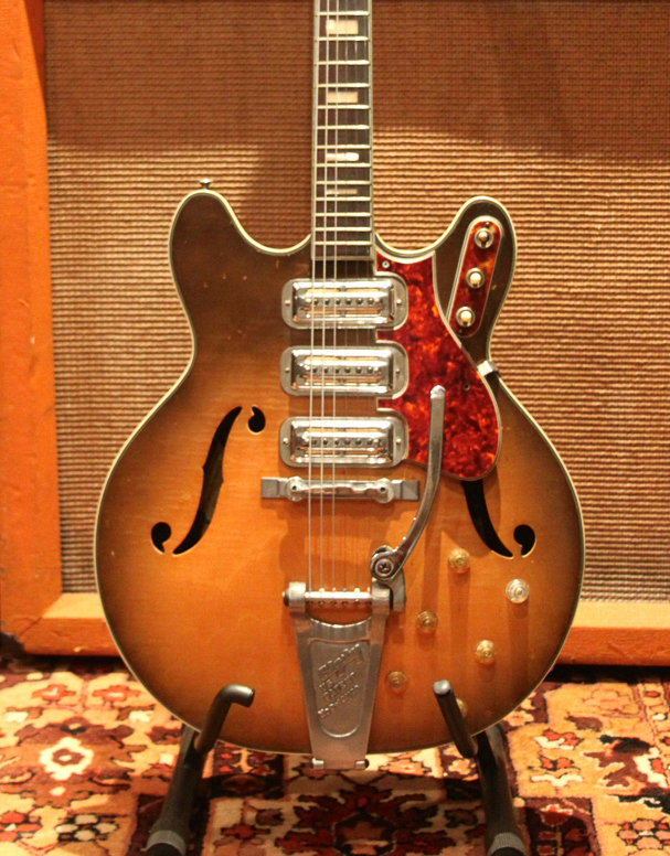 Vintage 1964 Harmony H75 USA Original Bigsby Electric Guitar