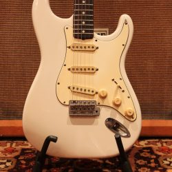 Vintage 1968 Fender Stratocaster Olympic White Refinished Guitar