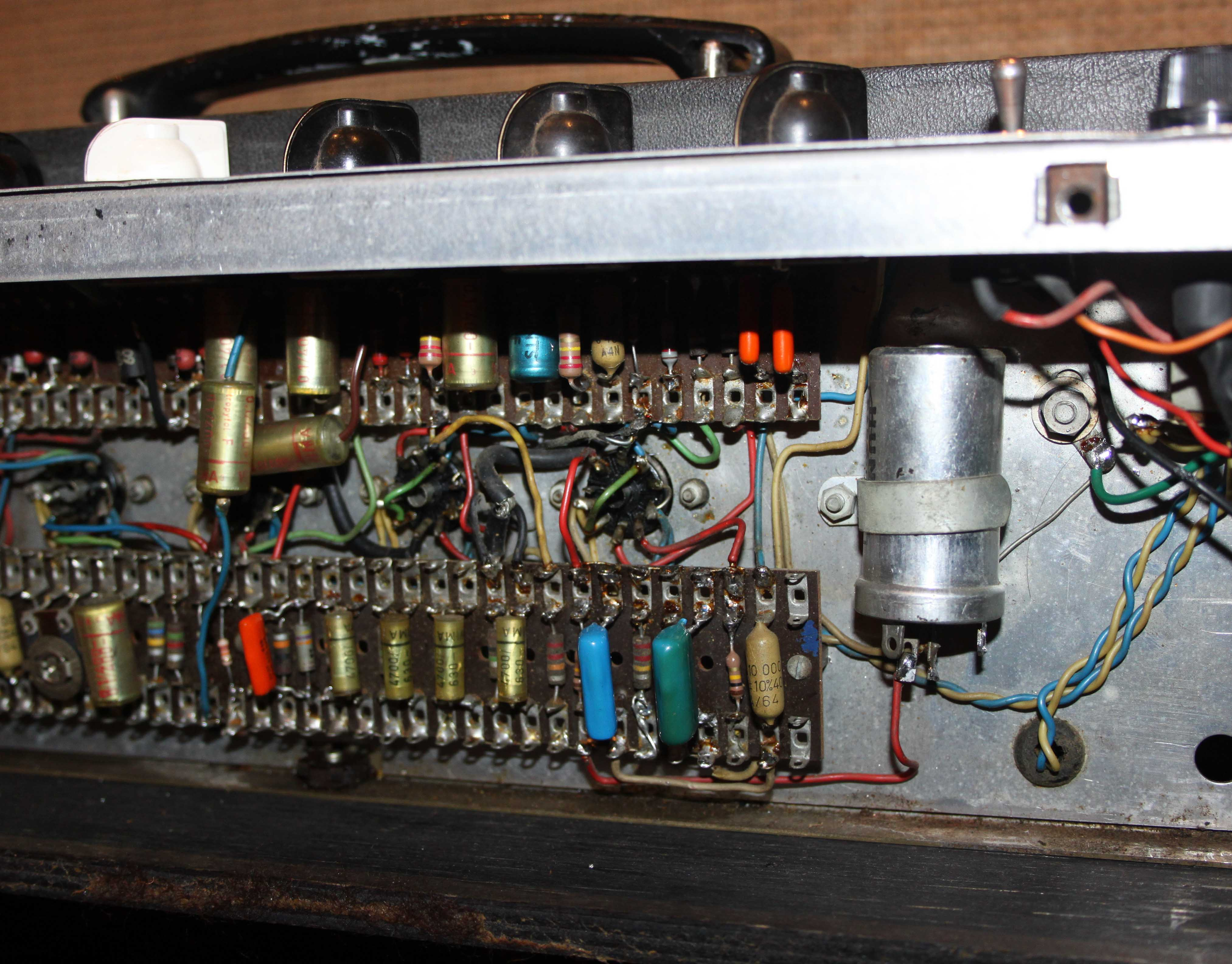 Vintage 1963 Vox Ac30 2x12 Valve Amplifier Combo Wiring Sold Out