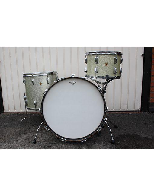 Vintage 1960s 1966 Ludwig Super Classic Silver Sparkle Drum Kit