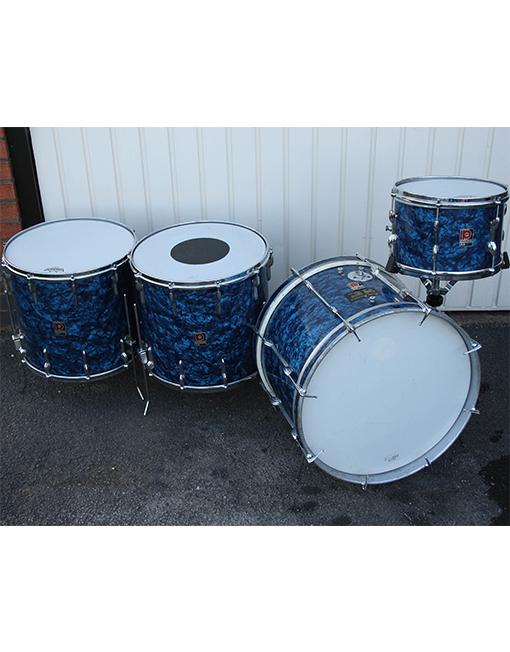Vintage 1960s Premier 54 Outfit Blue Pearl Drum Kit