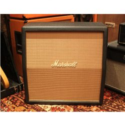 Vintage 1969 Marshall 1960A Angled 4x12 Basketweave Plexi Amp Cabinet