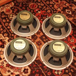 "Vintage 1972 Celestion Matched Quad G12H T1281 12"" Speakers"