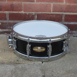 2003 Pearl Masterworks Piano Black Hand Made Snare Drum