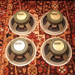 "Matched Quad Vintage 1972 Celestion G12H T1217 12"" Greenback Speaker"