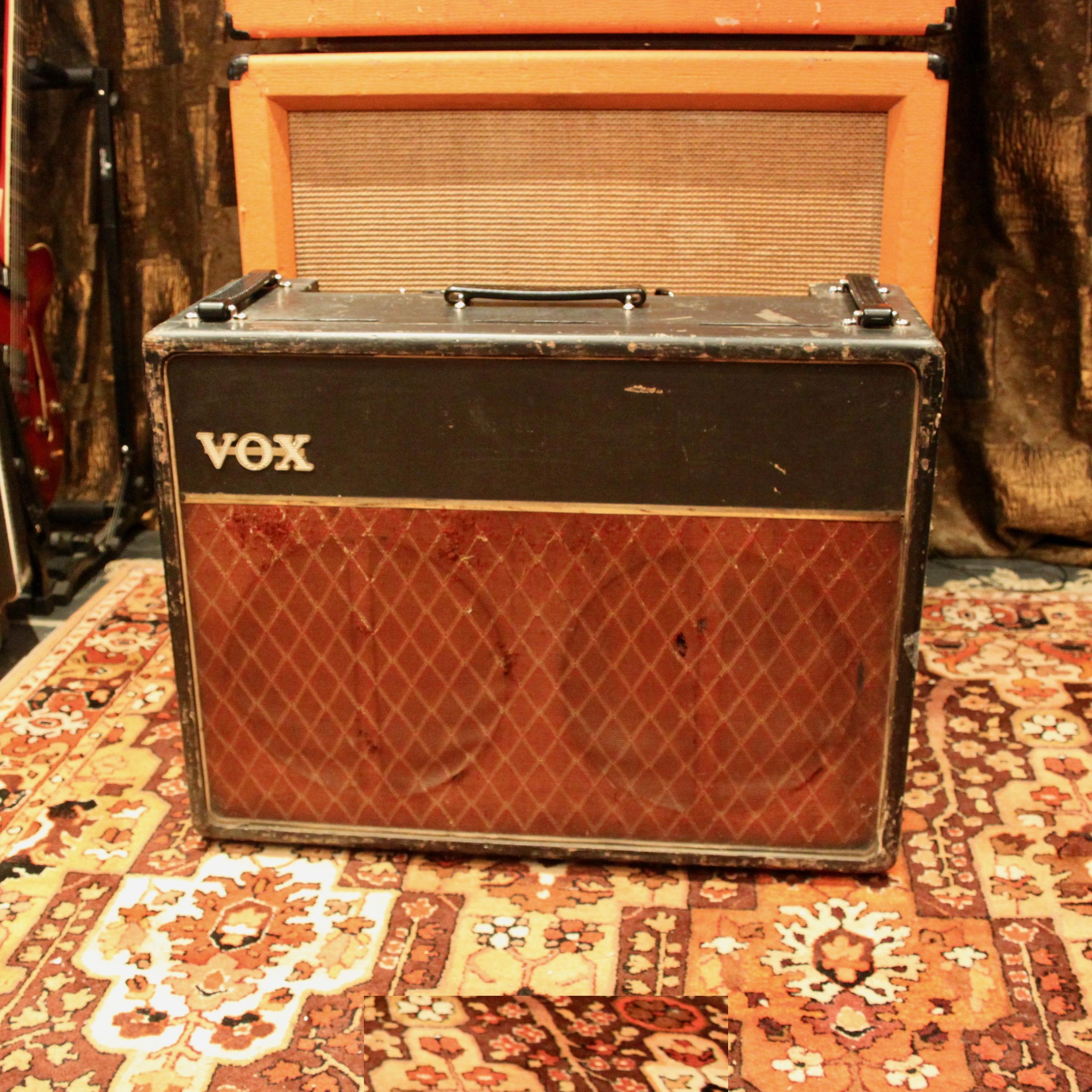 Vintage 1962 Vox AC30 JMI Beige Fawn (Painted) 2x12 Blues Valve Amplifier Combo
