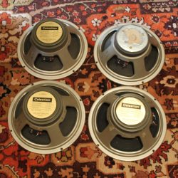 Matched Quad Vintage 1969 Celestion G12M T1221 12 Speaker Driver