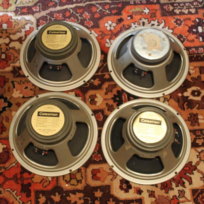 Matched Quad Vintage 1969 Celestion G12M T1221 12 Speaker Driver