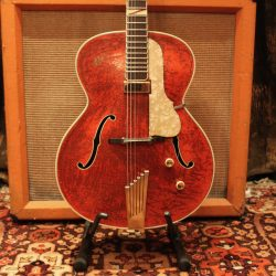 Vintage 1956 1950s Hofner Colourama Red Archtop Hollow Guitar