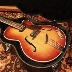 Vintage 1959 Hofner President Brunette Archtop Hollow Guitar No.3028 w/ Case