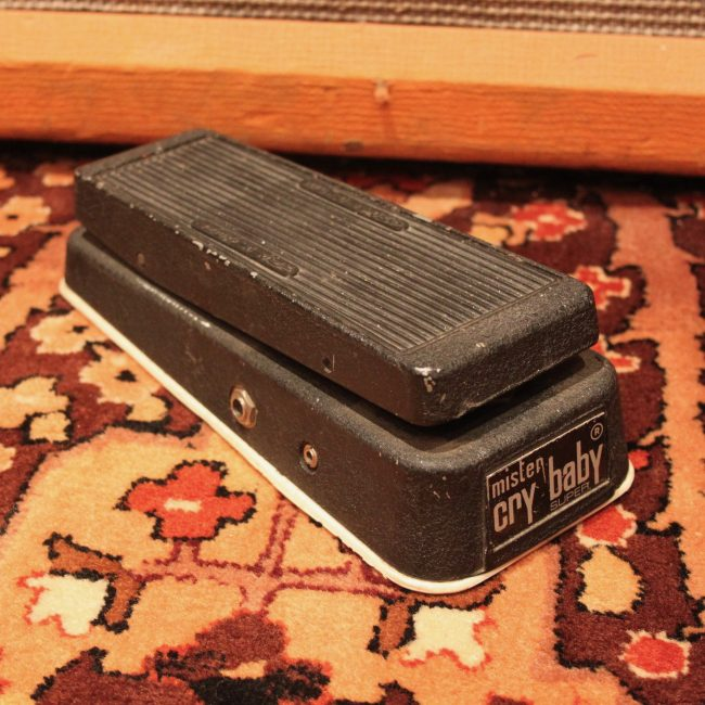 Vintage 1970s Jen Mister Cry Baby Super Wah Green Fasel Pedal