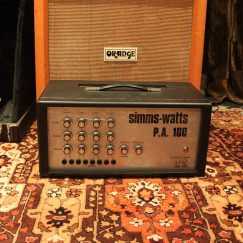 Vintage 1978 Simms Watts PA 100 Valve Amplifier