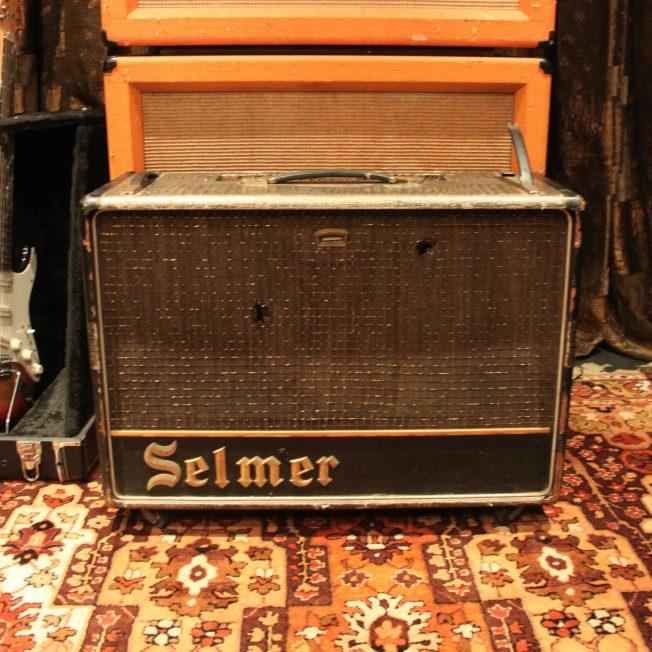 Vintage 1963 Selmer Zodiac Twin Thirty Truvoice Croc Skin Amplifier w/ Pedal