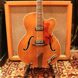 Vintage 1960 Hofner President Natural Archtop Hollow Guitar