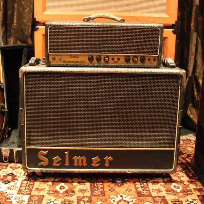 Vintage 1964 Selmer Bassmaster Fifty Matching Head & Cabinet