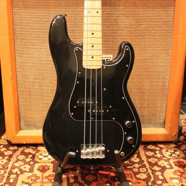 vintage 1979 1980 fender precision bass original black blue guitar. Black Bedroom Furniture Sets. Home Design Ideas