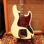 Vintage 1966 Fender Jazz Bass Custom Colour White Original Guitar