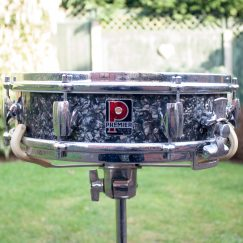 "Vintage 1960s Premier Royal Ace 4"" Black Diamond Pearl Snare Drum"