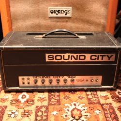 Vintage 1970s Sound City 100w Bass Valve Amplifier Head