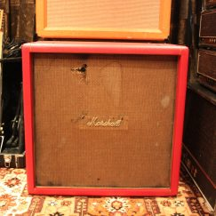 Vintage 1969 Marshall RED 4x12 w/ Celestion G12M T1511 JMP Guitar Speaker Cabinet.
