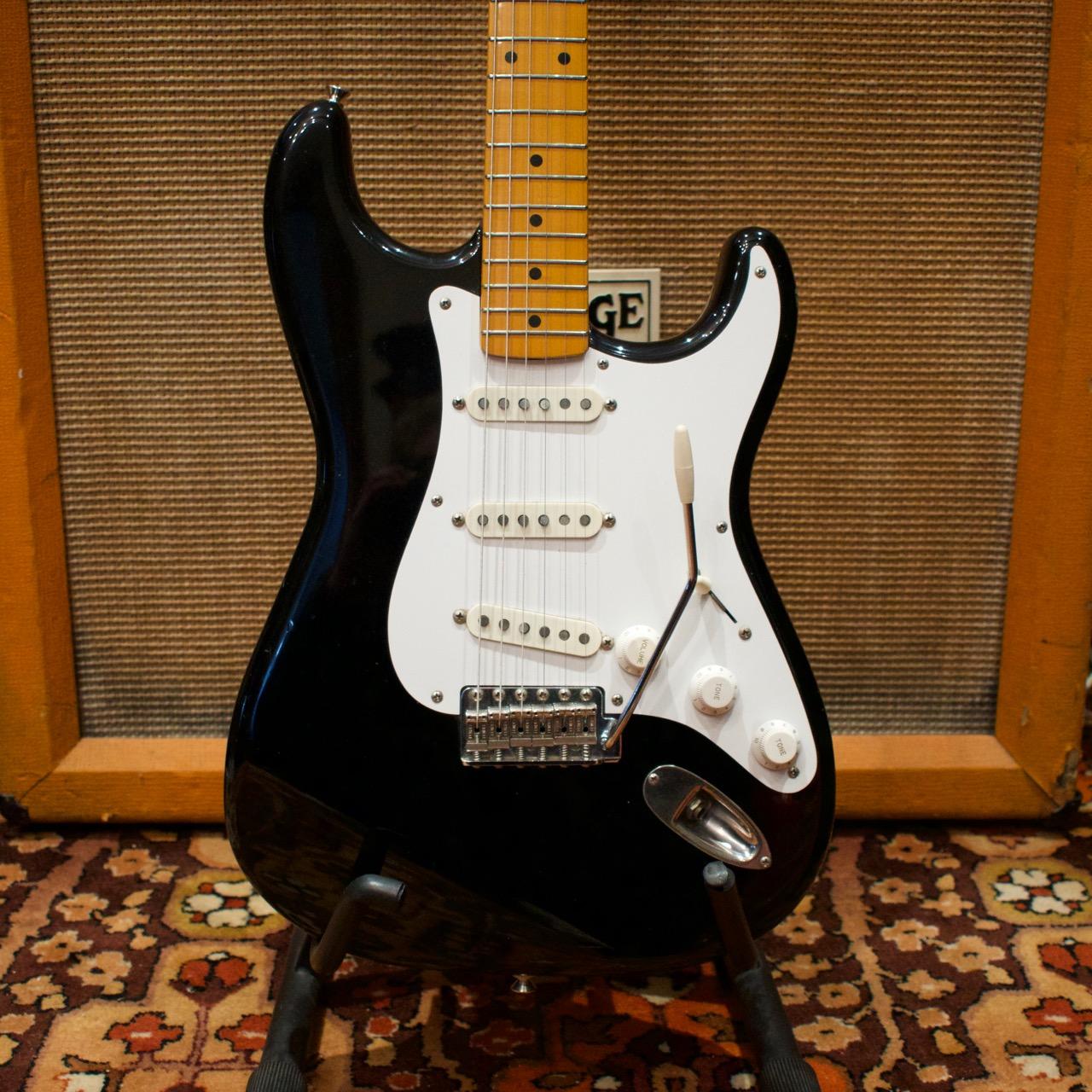 Vintage 1983 Fender Squier JV 57 Black Japan Stratocaster Guitar