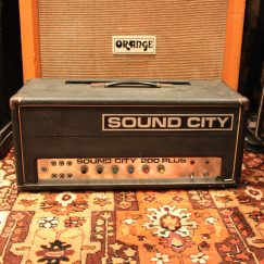 Vintage 1972 Sound City 200 Plus Amplifier Head