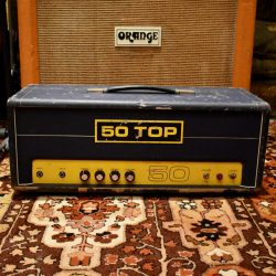 Vintage 1970s Carlsbro 50 Top Custom Colour Blue Valve Amplifier
