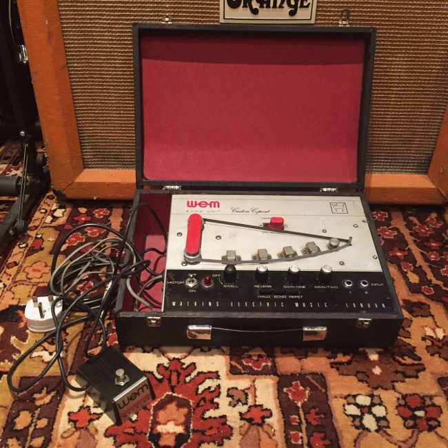 Vintage 1960s Watkins Custom Copicat Tape Echo Unit inc Pedal