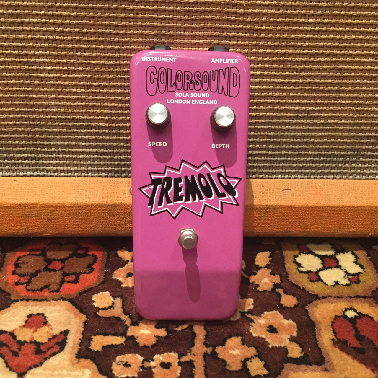 Vintage 1974 Colorsound Sola Sound Tremolo Purple UK