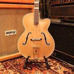 Vintage 1950s Hofner 457-S Natural Archtop Acoustic Guitar