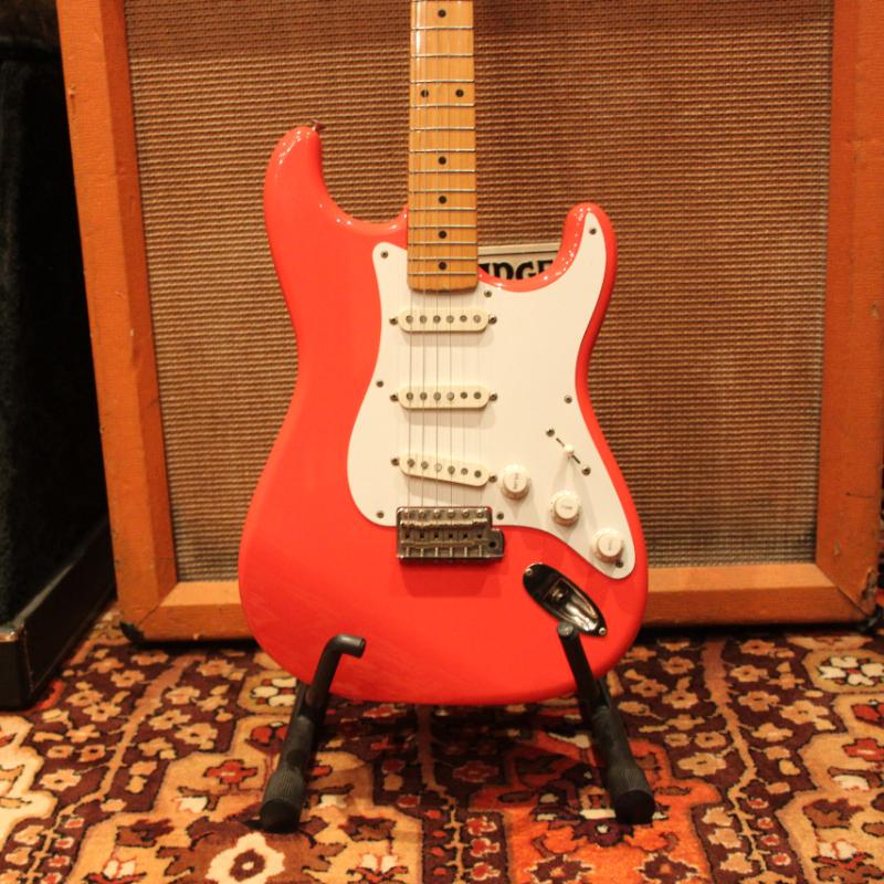 Vintage 1983 JV Fender Squier Fiesta Red 57 Reissue Stratocaster Guitar