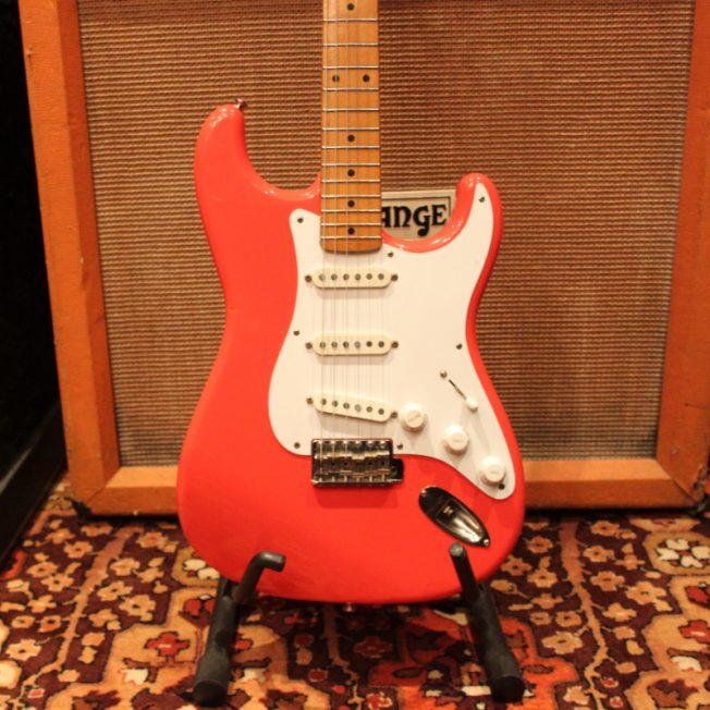 Vintage 1983 JV Fender Squier Fiesta Red 57 Reissue