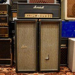 Vintage 1965 Marshall 2x12 Pinstripe Cabinets