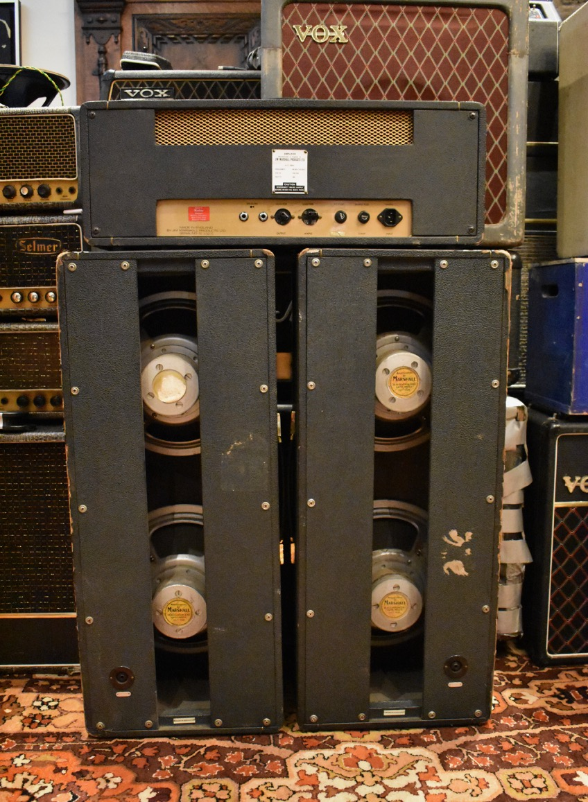 Vintage 1965 Marshall 2x12 Pinstripe Cabinets Columns ...