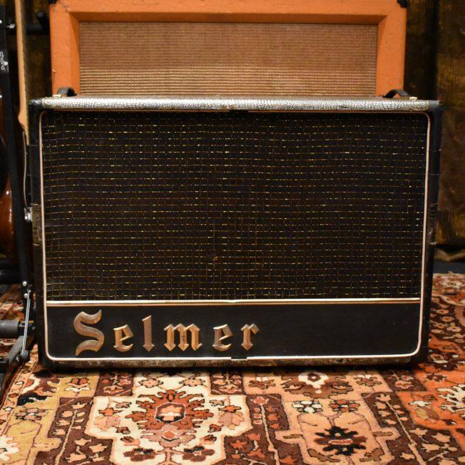 Vintage 1964 Selmer Truvoice Bassmaster 2x12 Crocodile Amp Cabinet