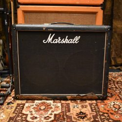 This beauty from 1978 is a 50W 2x12 combo amp with master volume. Beautifully rare with original Celestion G12M black back Marshall T1221 speakers.