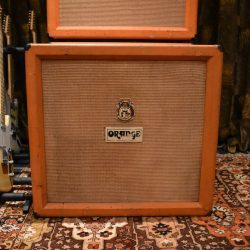 Vintage 1972 Orange 4x12 Basketweave Cabinet Celestion Greenbacks