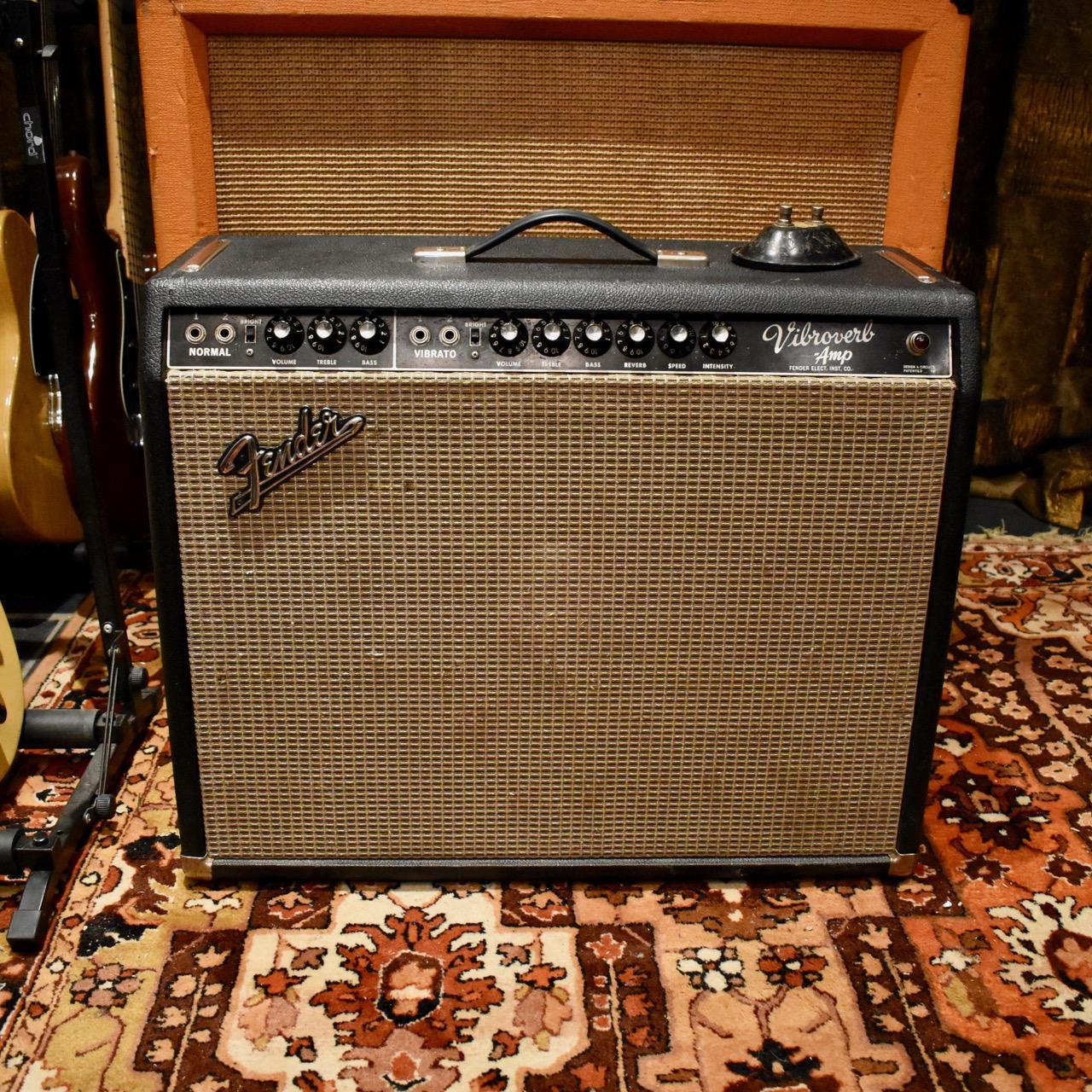 Vintage 1964 Fender Vibroverb Blackface AA763 JBL D130F Valve Amp