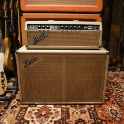 Vintage 1964 Fender Tremolux Blonde Blackface Piggyback Amplifier
