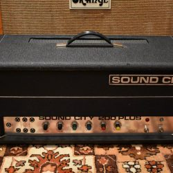 Vintage 1970s Sound City 200 Plus L200 Valve Amp Head