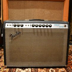Vintage 1974 Fender Vibrolux Reverb 2x10 Silverface Combo Amp