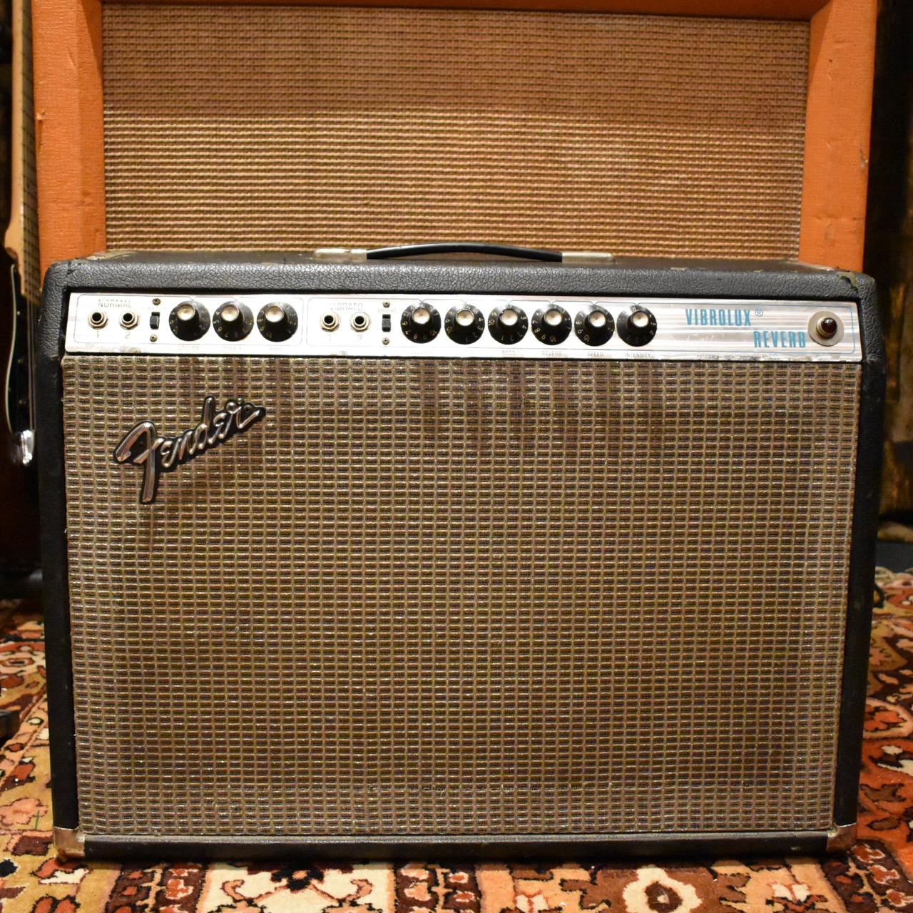 Vintage 1974 Fender Vibrolux Reverb 2x10 Silverface Combo Amp