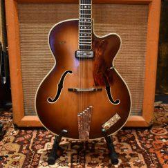 Vintage 1958 Hofner President Brunette E1 Guitar
