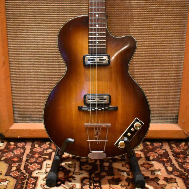 Vintage 1960 Hofner Club 50 Sunburst Guitar inc Original Case