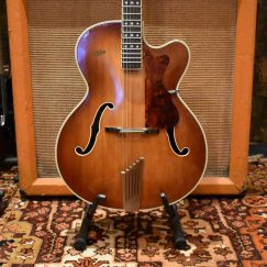 Vintage 1960 Hofner President Brunette Hollow Guitar & Hard Case