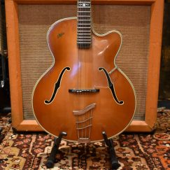 Vintage 1958 Hofner Committee Birds Eye Maple Guitar & Case