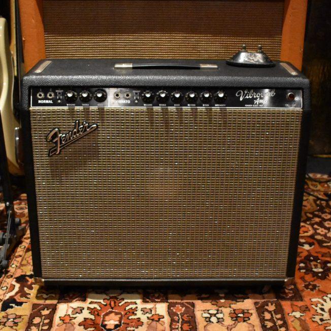 Vintage 1964 Fender Vibroverb Blackface AB763 JBL D130F Amplifier