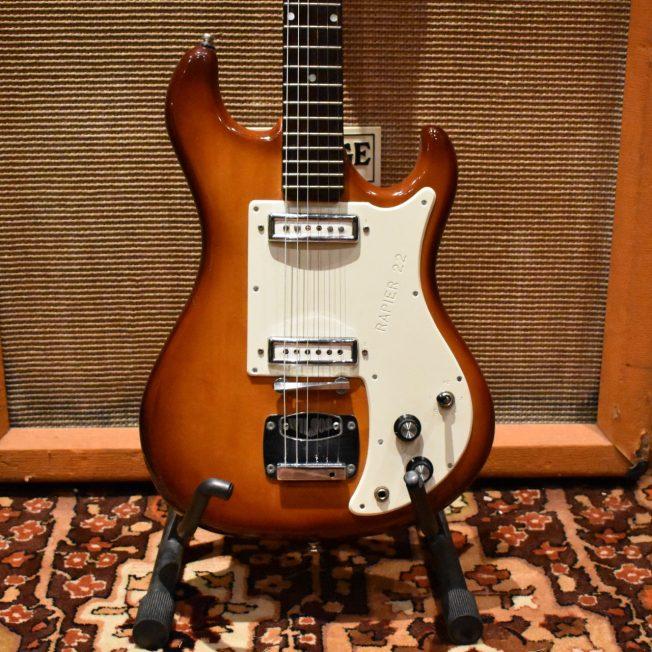 Vintage 1960s Wilson Watkins Rapier 22 Sunburst Electric Guitar